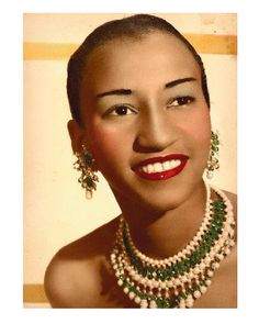 "Celia Cruz .Salsa artist, renowned internationally as the ""Queen of Salsa"" as well as ""La Guarachera de Cuba."""