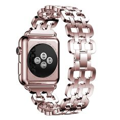 ANCOOL Apple Watch Band Custom Stainless Steel Bracelet Replacement Metal Watch Bands for Apple Watch All Models-38mm Rose Gold * Check out this great image (This is an affiliate link and I receive a commission for the sales)