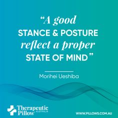 A good posture and stance reflect a proper state of mind Sleeping Quote