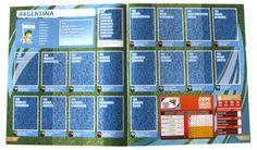 Panini Checkliste WM 2010 Argentinien ohne Sticker