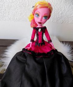 Lady von Pink - dress for 43cm MH doll