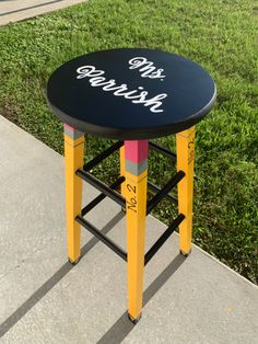 Customize a super cute wooden stool for your classroom! Each order is hand painted and takes about weeks! Teacher Stools, Classroom Stools, Classroom Decor, Kindergarten Classroom, School Classroom, Future Classroom, Teacher Appreciation Gifts, Teacher Gifts, Mom Gifts