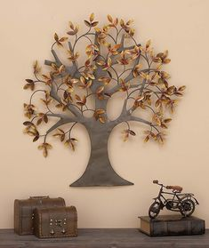 """See our web site for even more info on """"metal tree wall art decor"""". It is actually an outstanding spot to read more. Metal Tree Wall Art, Metal Wall Sculpture, Tree Sculpture, Wall Sculptures, Tree Wall Decor, Wall Art Decor, Metal Art Decor, Boho Home, Class Decoration"""