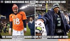 seahawks memes | Broncos, Seahawks Could Meet in Super Bowl XLVII Because of Marijuana ...