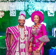 African Wedding Attire, African Attire, African Dress, Nigerian Traditional Wedding, Traditional Wedding Attire, African Dashiki, Wedding Wear, Wedding Outfits, Royal Brides