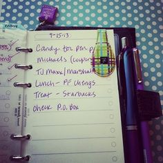 filofax compact regency as a wallet----money, checkbook, check register and shopping/errands list in it. #filof...
