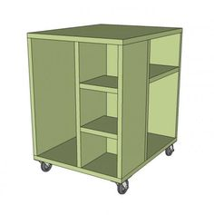 I want to make this!  DIY Furniture Plan from Ana-White.com  Roll this cute and functional CPU Cube cart under your desk to store CPU and other office items in style. Also could be used as an end table or even nightstand.