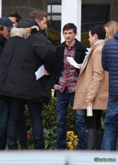 The way #Gosh looks at each other while rehearsing their lines <3<3<3 (Jared is ME) #Gosh #Snowing #OUAT