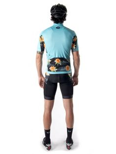 Island Fever Jersey & Bib - Coral Blue