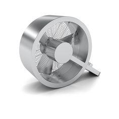 Ventilateur Q en métal - Designé par l'artiste suisse Carlo Borer, ce ventilateur design en forme de lettre Q vous aidera à passer l'été avec plaisir et confort ! Outre son esthétique particulière qui renouvelle la forme traditionnel de l'objet, il fait preuve d'une belle puissance de ventilation. De quoi apprécier une température adaptée à vos envies tout en appréciant visuellement un ventilateur à l'aspect sculptural.
