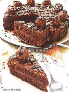 » Tort Ferrero RocherCulorile din Farfurie Chocolates, Cake Recipes, Dessert Recipes, Romanian Food, Different Cakes, Food Cakes, Savoury Cake, Something Sweet, Sweet Bread
