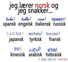 Språker på norsk! Math Equations, Bonjour