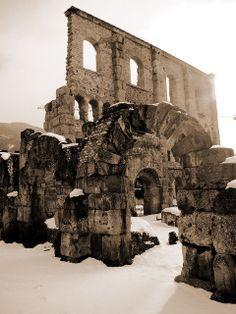 Arches of the Roman Theatre, Aosta