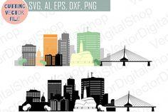 Winnipeg Vector silhouette, Canada Skyline USA city, SVG, JPG, PNG, DWG, CDR, EPS, AI from DesignBundles.net