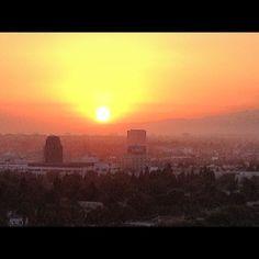 大きな夕日。 - @syamatko- #webstagram