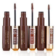 Makeup Eyebrow Enhancers Mascara Cream Waterproof Long Lasting Natural Coffee Color Tint Dye Paint Beauty Set