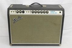 VINTAGE c.1968 Fender Vibrolux Reverb Silverface Tube Guitar Amplifier Amp