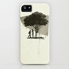 (Down By The) Family Tree iPhone Case by Ju. Ulvoas - $35.00
