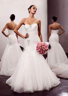 Fit & Flare Sweetheart Beaded Applique Ruched Bodice Wedding Dress-wf0024,  $239.95