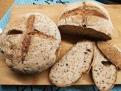 Köles- és barna rizslisztes kenyér kovásszal élesztő- és gluténmentesen (hisztamin diétába) Food, Meal, Eten, Hoods, Meals
