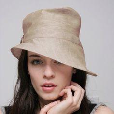 linen hat. Love this.