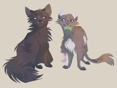 Yellowfang and Cinderpelt by ShwiftyBird.deviantart.com on @DeviantArt