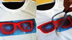 Resultado de imagem para customizando roupas com stencil