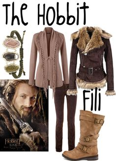 """""Fili"" by amiller86 on Polyvore"". I love this coat!! And this dwarf lol."