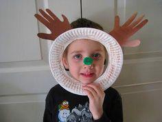 - Holiday Handprint Art - Paper Plate Handprint  Reindeer #ReindeerHandprint #reindeerhandprint Reindeer Handprint, Handprint Art, Paper Plates, Crochet Hats, Holiday, Knitting Hats, Vacations, Holidays, Vacation