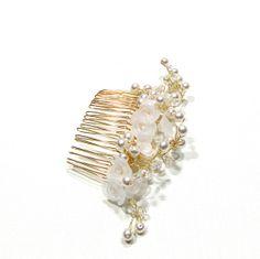 Bridal Pearl Hair Comb. Pearl Flower Bridal Comb. by flowershair, $36.00