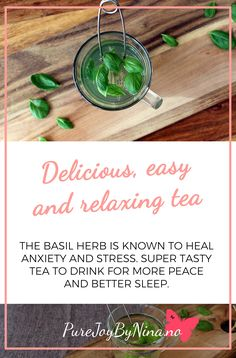 Relaxing, easy and super tasty tea recipie. Excelent for anxiety, stress, insomnia, depresion, digestion and so on. #tea #terecipie #relaxingtearecipie #tearecipieforanxiety Relaxing Tea, Generalized Anxiety Disorder, Inspirational Posters, Group Meals, Vegan Recipes, Vegan Food, Plant Based Recipes, Self Help, Recipies