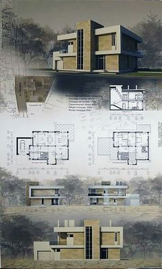 A higher quality more interesting way to create a presentation board. If the visual component is strong, there's a better chance of winning the project. Architecture Panel, Concept Architecture, Landscape Architecture, Interior Architecture, Park Landscape, Architecture Graphics, Urban Landscape, Architecture Diagrams, Modern House Plans