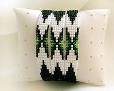 Items similar to Mexico Festival Western Bead Cuff Bracelet, Bead Loom Bracelet, Mexican Loom Bead Bracelet, Southwestern Jewelry, Native America Jewelry on Etsy Loom Bracelet Patterns, Beaded Earrings Patterns, Beaded Jewelry Designs, Bead Loom Patterns, Bead Jewelry, Beaded Cuff Bracelet, Bead Loom Bracelets, Tear, White Beads