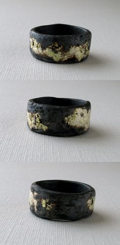 Texture Gold and Silver Ring for MEN by monteazul on Etsy, €73.00