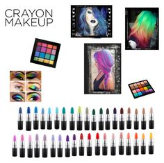"""Colourful Make-Up"" by flamming-look ❤ liked on Polyvore featuring beauty, NYX, Inglot and MAC Cosmetics"