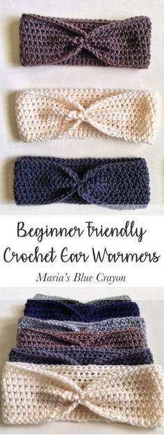 Free Crochet Pattern | Beginner Friendly Ear Warmer Crochet Pattern | Quick and Easy Crochet Project | DIY Christmas Gift Ideas for her | Maria's Blue Crayon