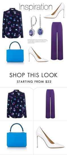 """""""177"""" by meldiana ❤ liked on Polyvore featuring Rebecca Taylor, WearAll, Emilio Pucci, Francesco Russo and Blue Nile"""