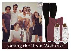 """""""Imagine being the newest member of the Teen Wolf Cast"""" by annahcat ❤ liked on Polyvore featuring Current/Elliott, Monki, Converse, women's clothing, women, female, woman, misses, juniors and TeenWolf"""