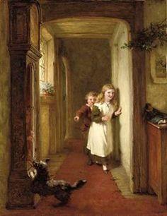 Hide And Seek-George Bernard O'Neill (1828 – 1917, Irish)