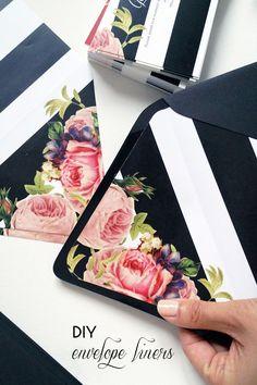 DIY :: Wedding Invitation Envelope Liners