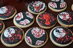 Twilight New Moon inspired cookies