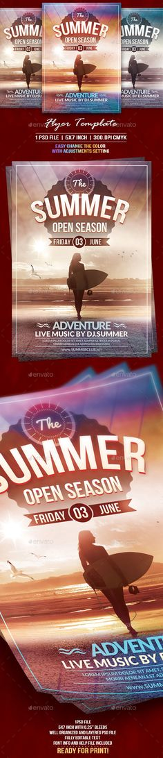 The #Summer #Flyer Template - Events Flyers Download here: https://graphicriver.net/item/the-summer-flyer-template/19713988?ref=alena994