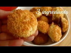 Only 3 ingredients Coconut cookies Easy Biscuits - YouTube Coconut Biscuits, Coconut Cookies, Easy Biscuits, Easy Gulab Jamun Recipe, Biscuit Recipe Video, Cookie Recipes, Dessert Recipes, Desserts, Sans Gluten