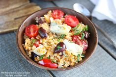 Mediterranean Couscous Salad Recipe by Two Peas & Their Pod