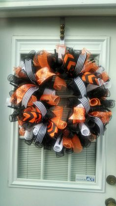 Halloween Wreath / Halloween / Chevron Wreath / Halloween Decorations / Deco…