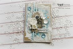 This amazing, winter, shimmery cover is created by my CT member Marta Turska using my products that are just perfect for that kind of look: Snowflake Paste, White Pearl ArtAlchemy Metallique Paint, Magical Pond Sparks, Texture Powder and gesso. Check our blog for detailed video tutorial. https://loom.ly/JN-_XJg