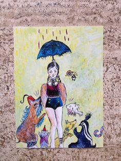 postcard umbrella di theberingsea su Etsy
