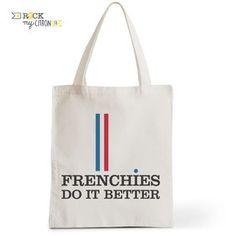 Tote Bag Rock my Citron,  Frenchies do It Better, Cadeaux Fêtes, Anniversaires, Naissances