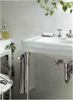 Easton Vintage Low Profile Three Hole Deck Mounted Lavatory Faucet With Metal Cross Handles Waterworks Bathroom