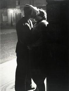 "Brassaï (Gyula Halász), ""Untitled [Couple kissing]"" (ca. 1932) | Photograph | gelatin silver print"